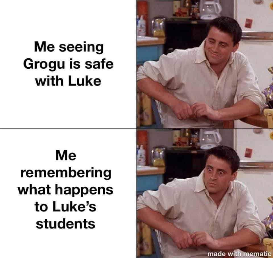 grogu and luke the mandalorian finale memes