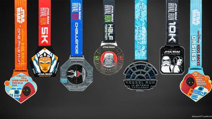 rundisney 2021 medals star wars virtual