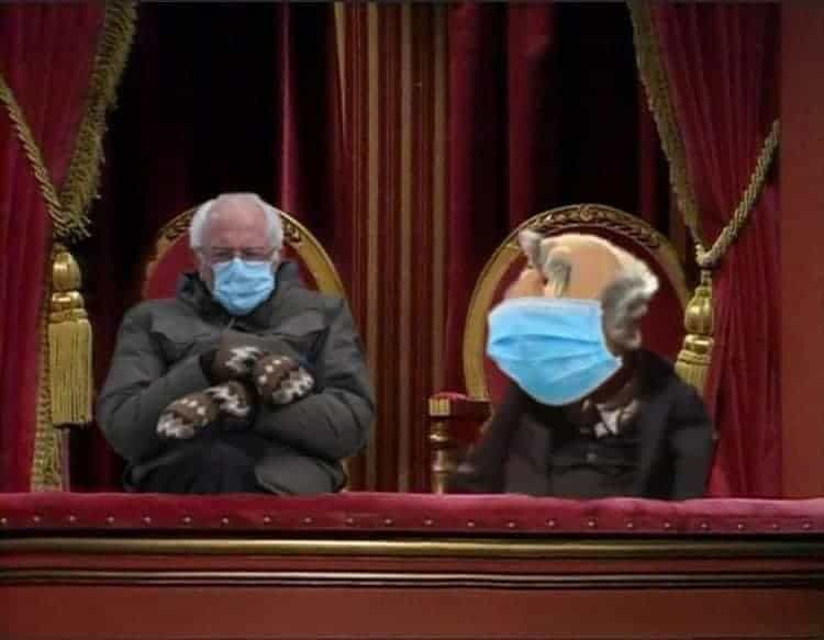 Disney Bernie Sanders inauguration memes and Muppets