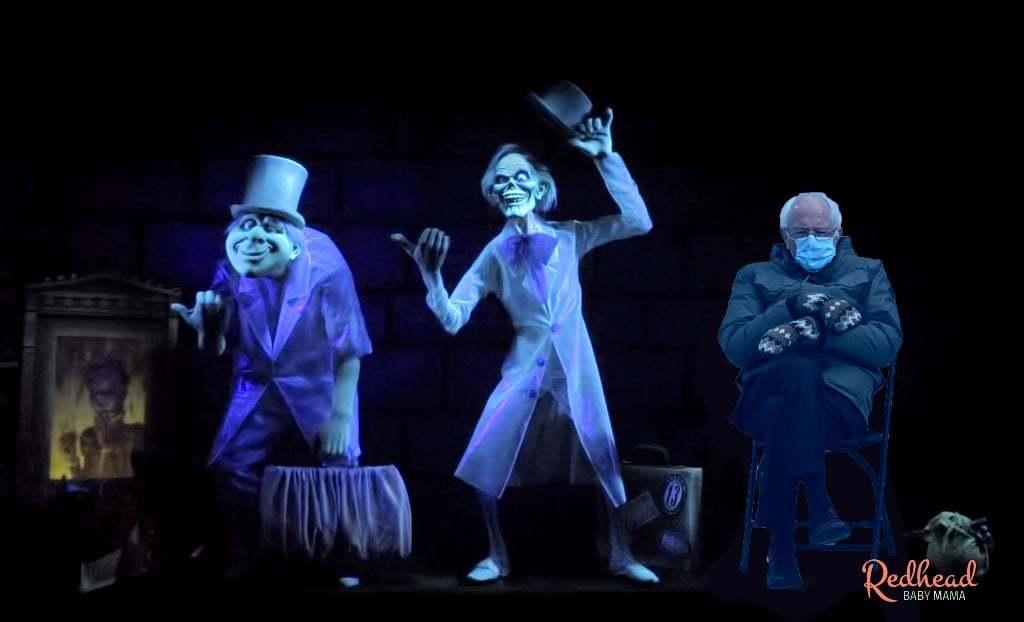 Bernie Sanders Inuaguration Memes Disney Haunted Mansion