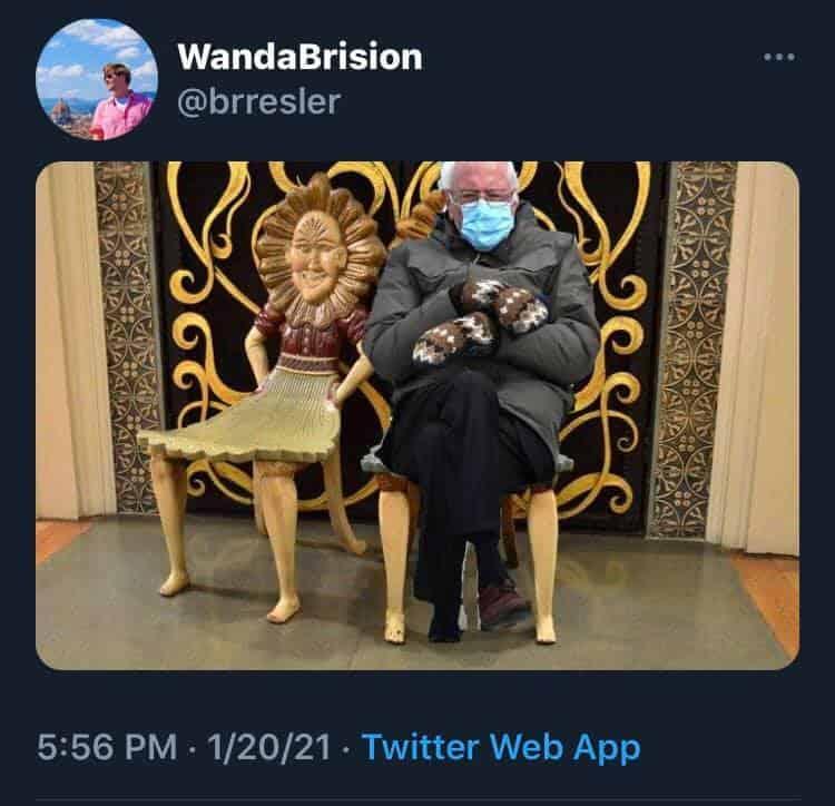 Disney Bernie Sanders Memes from Inauguration