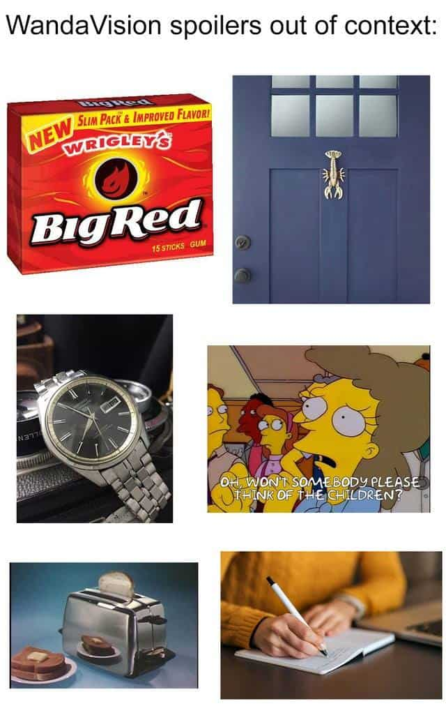 spoiler out of context wandavision memes