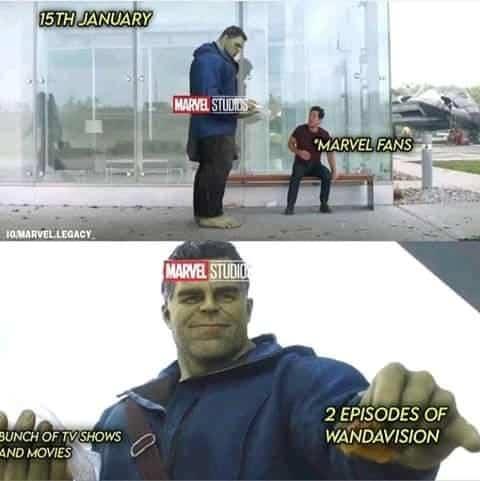 wandavision memes hulk