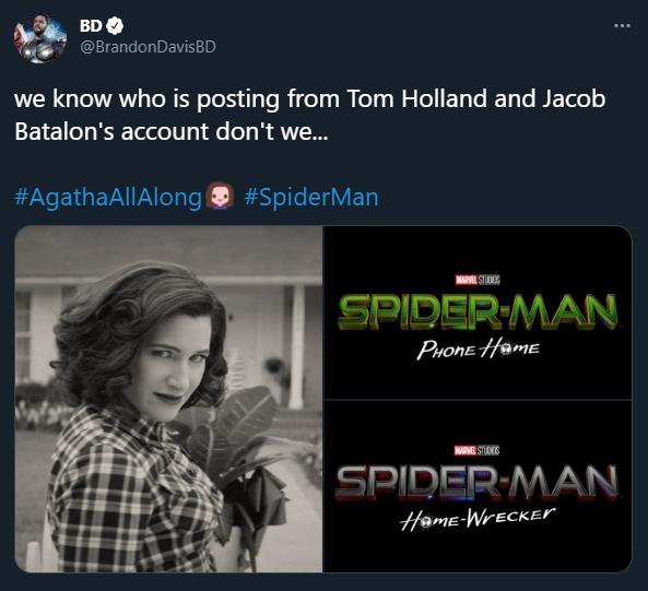 agatha all along spiderman