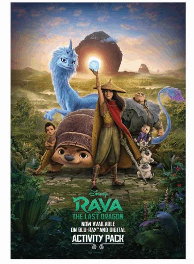 Raya And The Last Dragon Coloring Sheets & Activity Pack