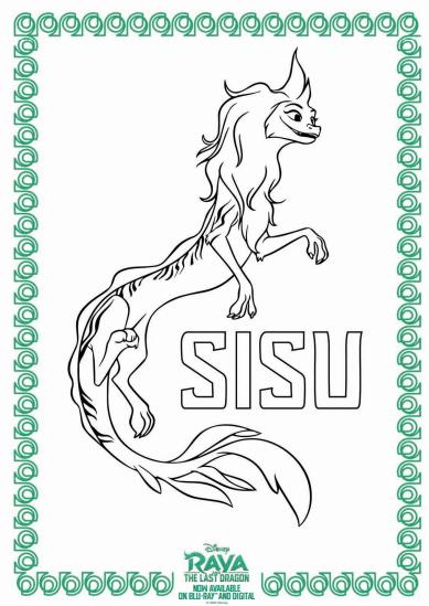 Raya And The Last Dragon Coloring Sheets Sisu
