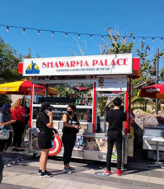 shawarma cart easter eggs at avengers campus