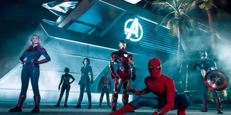 super heroes at disneyland avengers campus