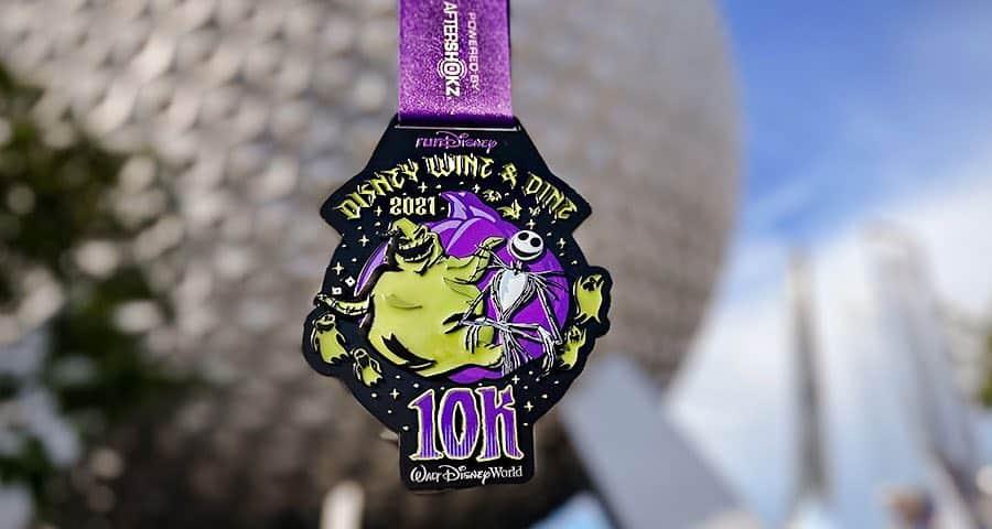 10K wine and dine 2021 medal