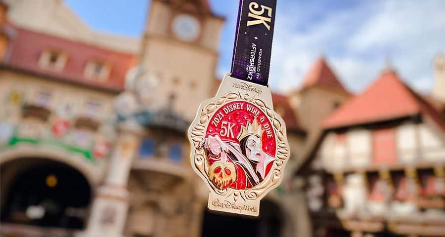 evil queen 2021 5K wine and dine medal