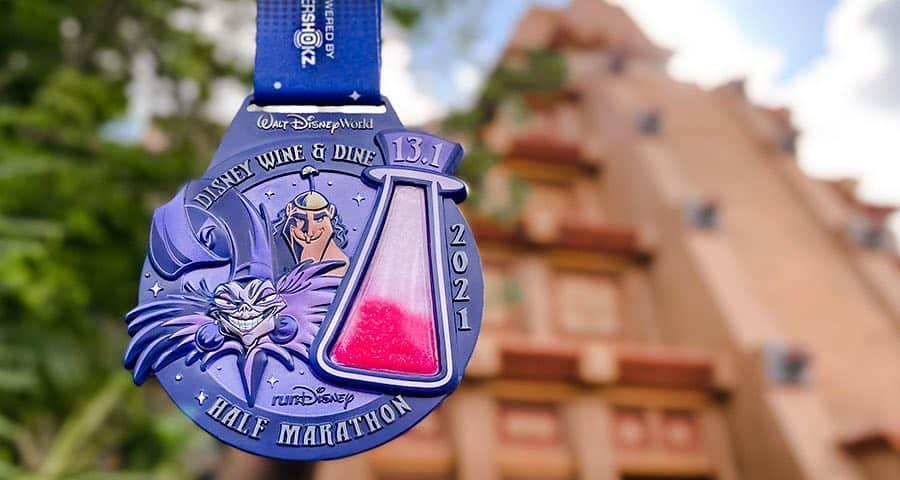 half marathon 2021 medal wine and dine