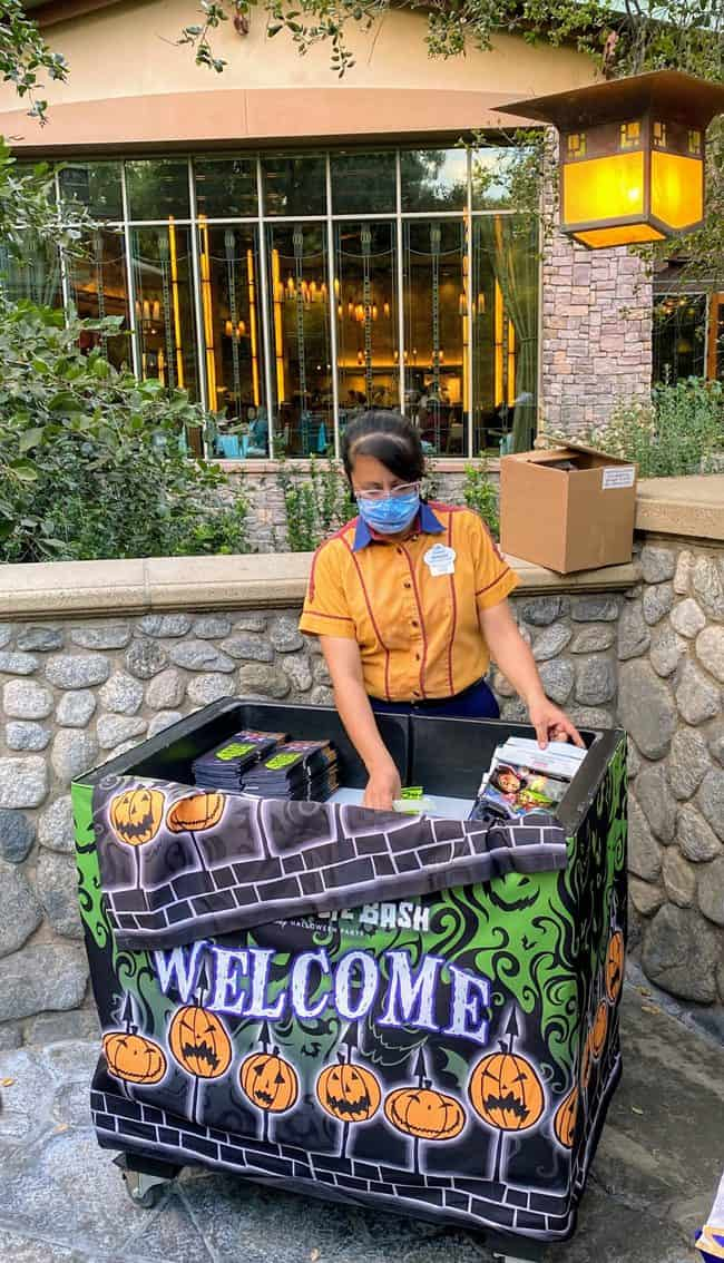 things to skip at oogie boogie bash: event check in at grand californian hotel