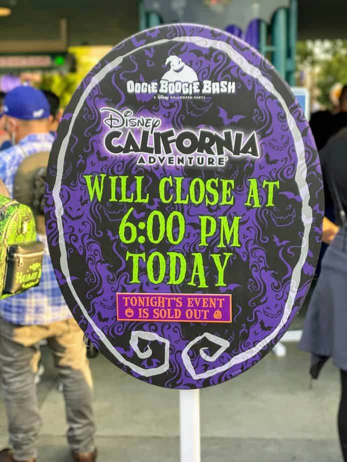 things to skip at the oogie boogie bash